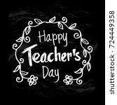 happy teacher's day | Shutterstock .eps vector #724449358