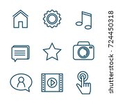 settings menu smartphone icons