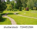 track  forest  park  landscape... | Shutterstock . vector #724451584