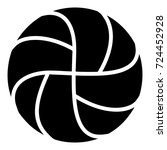 handball icon. simple... | Shutterstock .eps vector #724452928