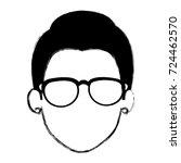 beautiful woman head avatar...   Shutterstock .eps vector #724462570