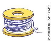 nylon fish object to fishing...   Shutterstock .eps vector #724464244