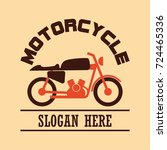 motorcycle logo  emblems and... | Shutterstock .eps vector #724465336