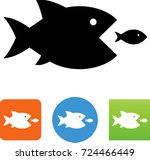 fish eating fish icon | Shutterstock .eps vector #724466449