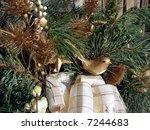 christmas wreath decoration | Shutterstock . vector #7244683
