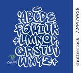 handmade graffiti font | Shutterstock .eps vector #724479928