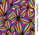 bright colorful abstract... | Shutterstock .eps vector #724480420
