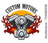 bikers racing team  motorcycle...   Shutterstock .eps vector #724480558