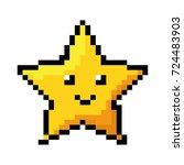 pixelated star kawaii icon | Shutterstock .eps vector #724483903
