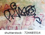 surface of street wall with... | Shutterstock . vector #724485514