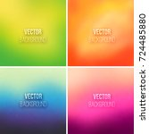 abstract colorful blurred... | Shutterstock .eps vector #724485880
