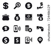 16 vector icon set   dollar ... | Shutterstock .eps vector #724486129