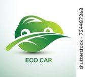 eco car concept green drive... | Shutterstock .eps vector #724487368