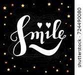 letters on  chalkboard... | Shutterstock .eps vector #724490080