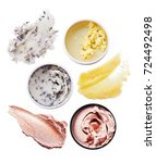 body scrubs in jars and their... | Shutterstock . vector #724492498