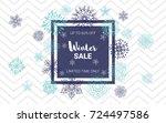 winter sale website banner... | Shutterstock .eps vector #724497586