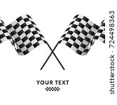 checkered flags. racing flags....   Shutterstock .eps vector #724498363