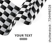 waving checkered flag. racing... | Shutterstock .eps vector #724498528