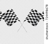 waving checkered flags on... | Shutterstock .eps vector #724498678