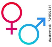 gender symbols | Shutterstock .eps vector #724501864