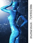 3d illustration of a futuristic ... | Shutterstock . vector #724502386