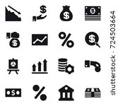 16 vector icon set   crisis ... | Shutterstock .eps vector #724503664