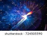 welder  craftsman  erecting... | Shutterstock . vector #724505590