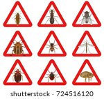 vector collection of warning... | Shutterstock .eps vector #724516120