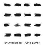 set of black brushes  grunge...