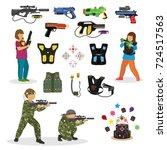 laser tag fun game vector set... | Shutterstock .eps vector #724517563