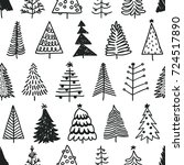 seamless pattern with hand... | Shutterstock .eps vector #724517890