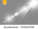 vector transparent sunlight... | Shutterstock .eps vector #724524700