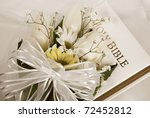 Spring Wedding Bouquet On Bibl...