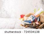 dutch holiday sinterklaas... | Shutterstock . vector #724534138