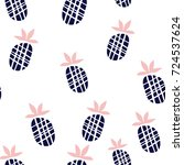 seamless pattern with hand... | Shutterstock .eps vector #724537624