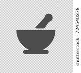 bowl mortar vector icon eps 10. ... | Shutterstock .eps vector #724540378