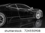 car vehicle 3d blueprint mesh... | Shutterstock . vector #724550908