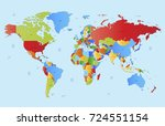 color world map | Shutterstock .eps vector #724551154