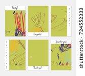 hand drawn creative universal... | Shutterstock .eps vector #724552333