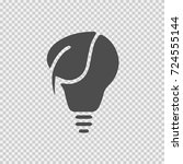 bulb and leaf vector icon eps... | Shutterstock .eps vector #724555144