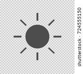 sun vector icon eps 10. simple... | Shutterstock .eps vector #724555150