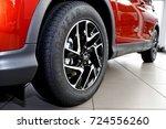 aluminum wheel with  goodyear...   Shutterstock . vector #724556260