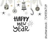 happy new year   hand drawn... | Shutterstock .eps vector #724556719
