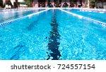 lane swimming pool. closeup of...