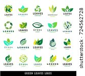 green leaf eco design friendly... | Shutterstock .eps vector #724562728