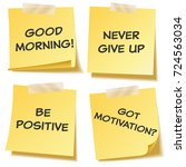 sticky note with text and...   Shutterstock .eps vector #724563034