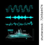 graphic musical equalizer ...   Shutterstock . vector #724564474