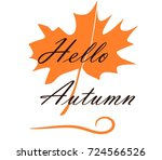 hello autumn. greeting card for ... | Shutterstock .eps vector #724566526