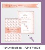 luxury wedding invitation...   Shutterstock .eps vector #724574536