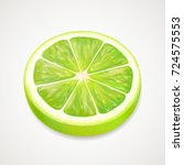 vector lime slice. realistic 3d ...   Shutterstock .eps vector #724575553